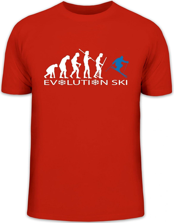 Shirtstreet24, EVOLUTION SKI 2.0, Wintersport Après Ski Herren T-Shirt Fun Shirt Funshirt