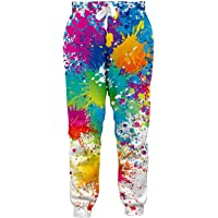 Leapparel Men/Women 3D Printed Joggers Pants Casual Sports Track Graphric Baggy Sweatpants Athletic Active Elastic Waist Running Trousers with Drawstring (XXL Tie-Dyed)