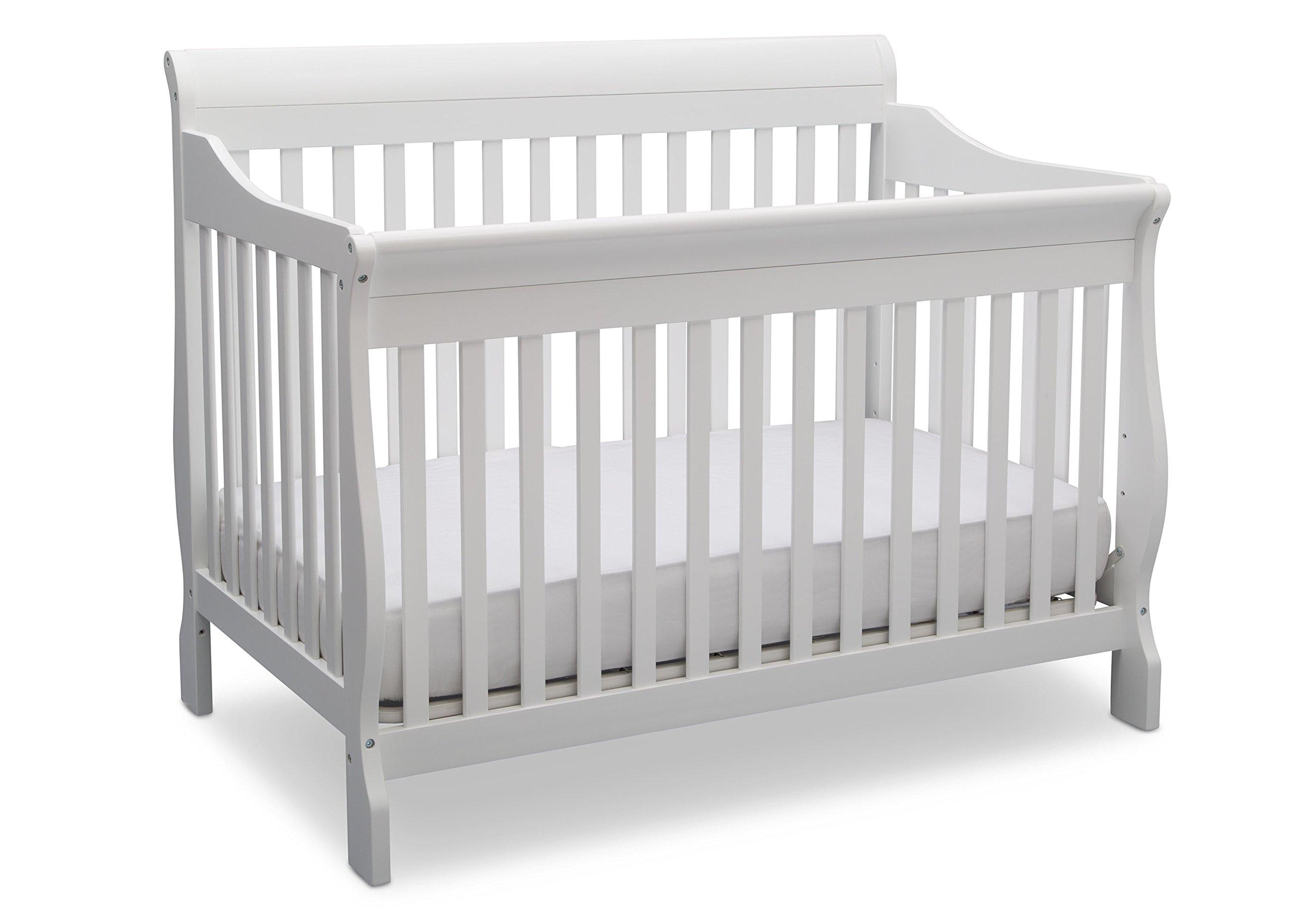 Delta Children Canton 4- in-1 Convertible Crib, Bianca,White