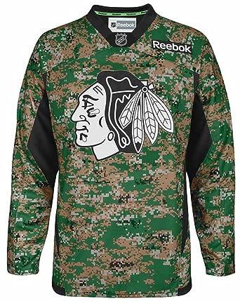 e0c76852677 Amazon.com: Reebok Chicago Blackhawks Jersey Stitched Digital Camo ...