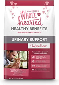 WholeHearted Urinary Support Chicken Flavor Dry Cat Food, 2.5 lbs.