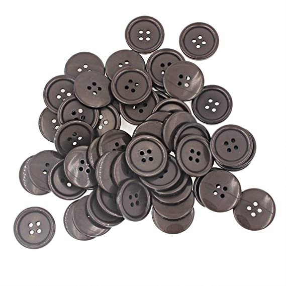 500 Pcs Small Buttons,Mini Buttons,Tiny Sewing Flatback Resin Buttons Color Black 2 Hole Size 11//32 Leekayer 9 MM
