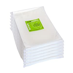 Vacuum Sealer Bags Quart 300 - Pack Size 8x12 Inch for Food Saver, Seal a Meal Vac Sealers, Sous Vide Vacume Cooking Safe, BPA Free, Heavy Duty Commercial Grade Pre-Cut Storage Bag Avid Armor