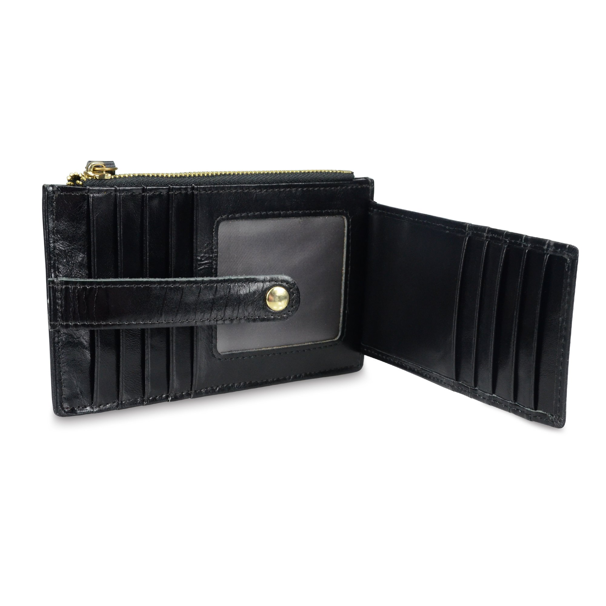Onstro RFID Blocking Wallets for Women Genuine Leather Multi Credit Card Organizer with ID window by Onstro (Image #5)