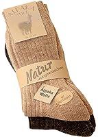 Alpaka Socken Neuheit: mit Frottesohle weich und warm