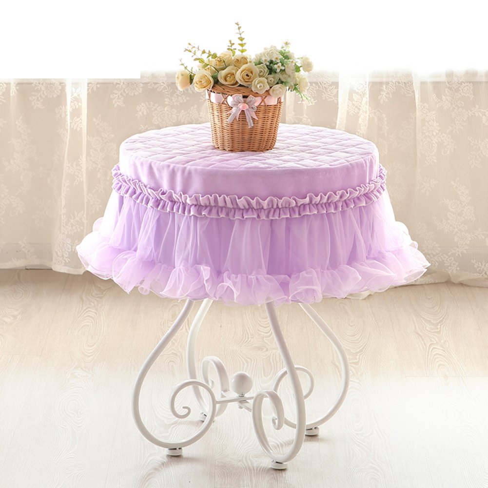 Roundtable,Fabrics ,Tablecloth ,Round,Coffee Table Cloth/Thicken,Lace,Tablecloth /Household Use-A diameter180cm(71inch)