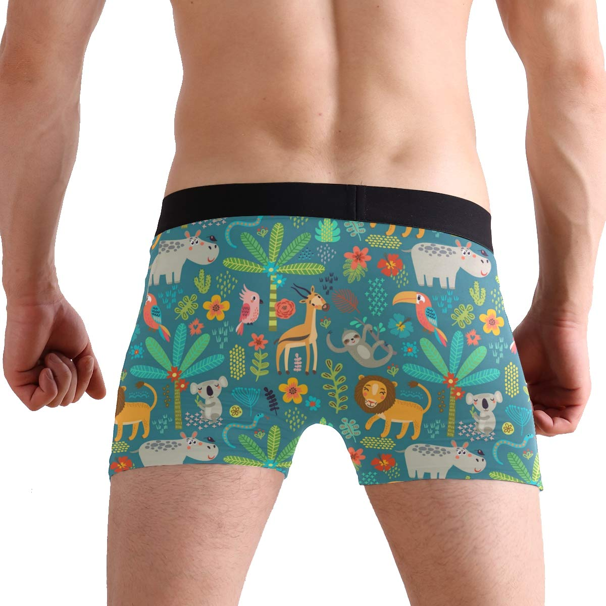 Mkuell Christmas Comfortable Mens Boxer Briefs Multi-Size Soft Underwear S