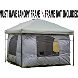 Standing Room Family Cabin Tent 8.5 FEET OF HEAD ROOM 2 or 4 Big Screen Doors Fast Easy Set Up, Full waterproof Fabric Ceiling (NOT CHEAP SIEVE SCREEN),FULL TUB STYLE Floor CANOPY FRAME NOT INCLUDED!