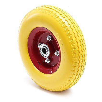 Carretilla rueda de poliuretano 2.80/2.50-4 de goma maciza antipinchazos