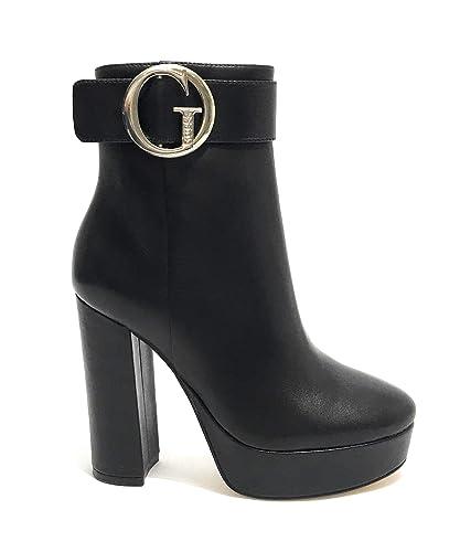 Guess Doze Bottines À Plateau Black Femme Chaussures