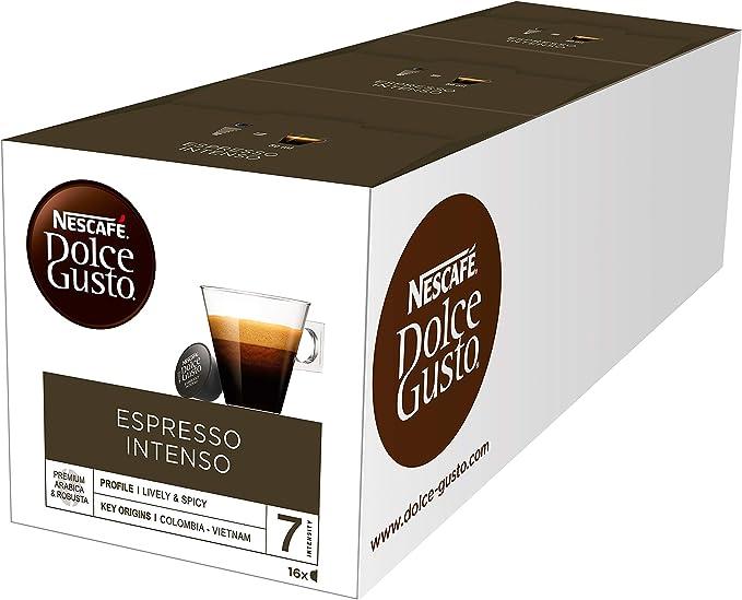 Exclusivo NESCAFÉ Dolce Gusto Café Espresso Intenso, Pack de 3 x ...