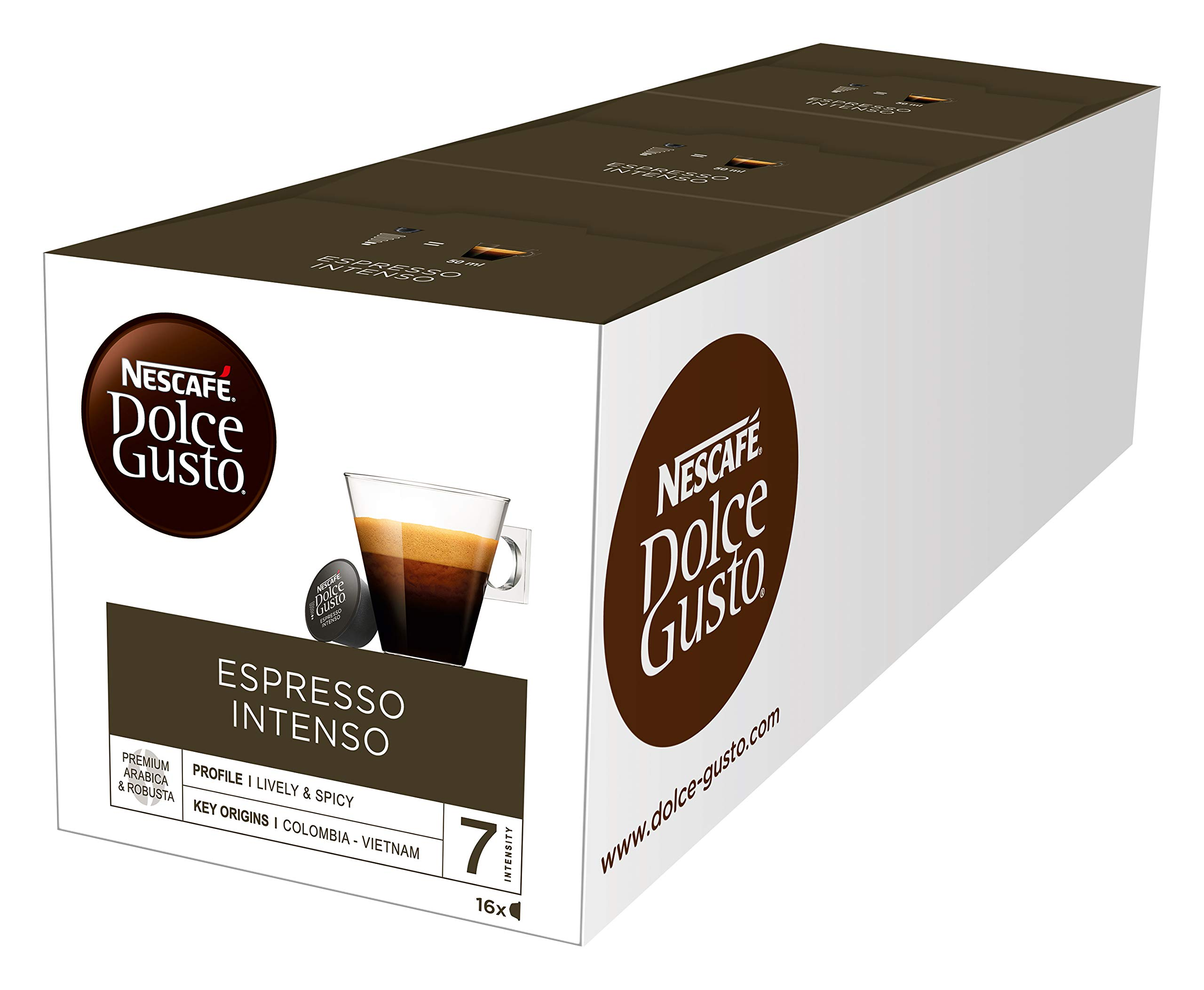 Nescafe Dolce Gusto for Nescafe Dolce Gusto Brewers, Espresso Intenso, 16 Count