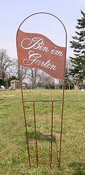 Pérgola Bin en el jardín 134 x 40 cm óxido oxidado metal metal Valla Jardín Conector + ORIGINAL instrucciones de lavado de piedra figuras Mundo: Amazon.es: Jardín
