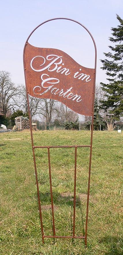 Pérgola Bin en el jardín 134 x 40 cm óxido oxidado metal metal ...