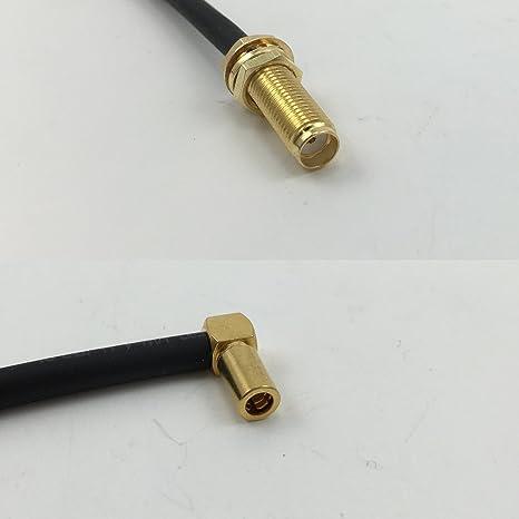 6 Inch 15 cm RG316 SMA hembra largo a SSMB ángulo hembra Jumper Pigtail RF Cable