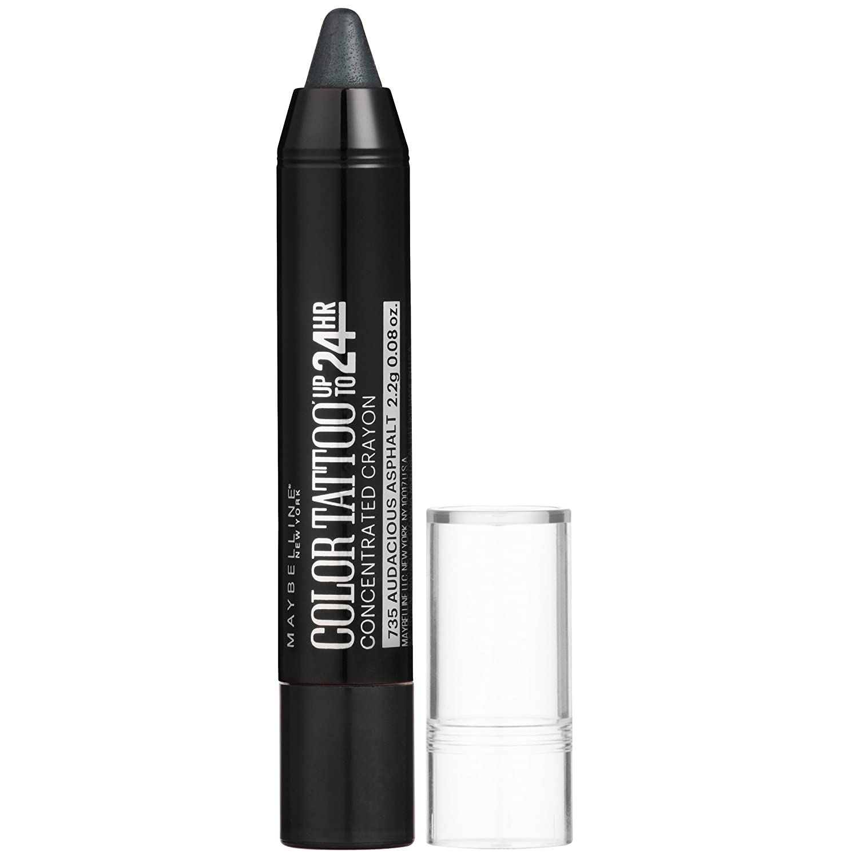 Maybelline New York Eyestudio Color Tattoo Concentrated Crayon,735 Audacious Asphalt, 0.08 oz.