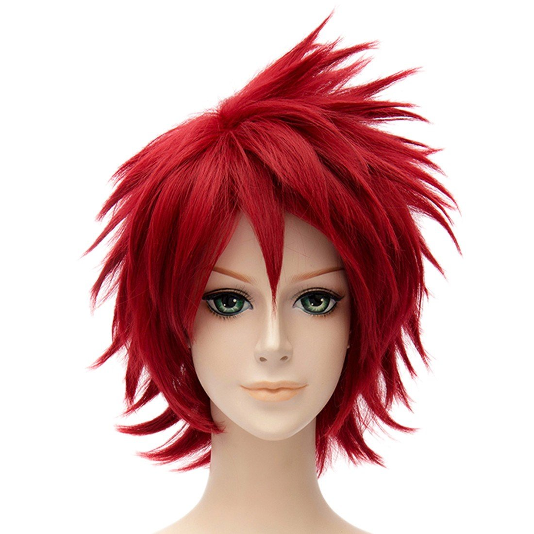 Naruto Sasori Red Short Wavy Cosplay Full Wig Cosplay Costume Resistant Perruque QIYUN.Z W111A1184/1ONE