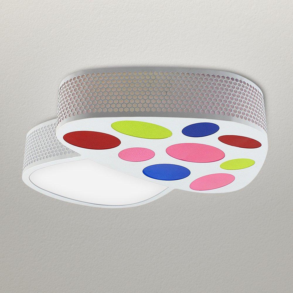 NATSEN Mushroom ceiling lamps Fashion Creative Kids Room Flush Mount White Ceiling Lights LED 18W Warm white