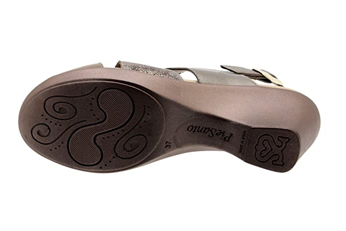 Chaussure femme confort en cuir Piesanto 8855 sandale semelle amovible  confortables amples  Amazon.fr  Chaussures et Sacs 754924d72dba