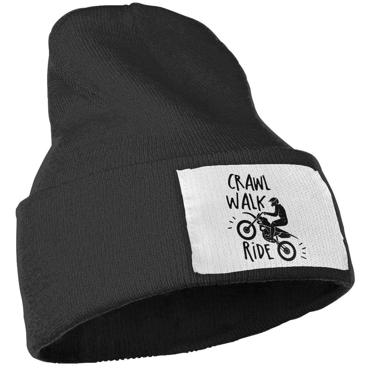 Unisex Crawl Walk Ride Outdoor Warm Knit Beanies Hat Soft Winter Knit Caps