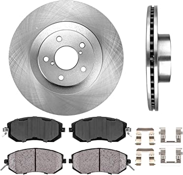 4 Rear Metallic Brake Pad Fits 2010-2014 Subaru Outback 2 Performance Rotors