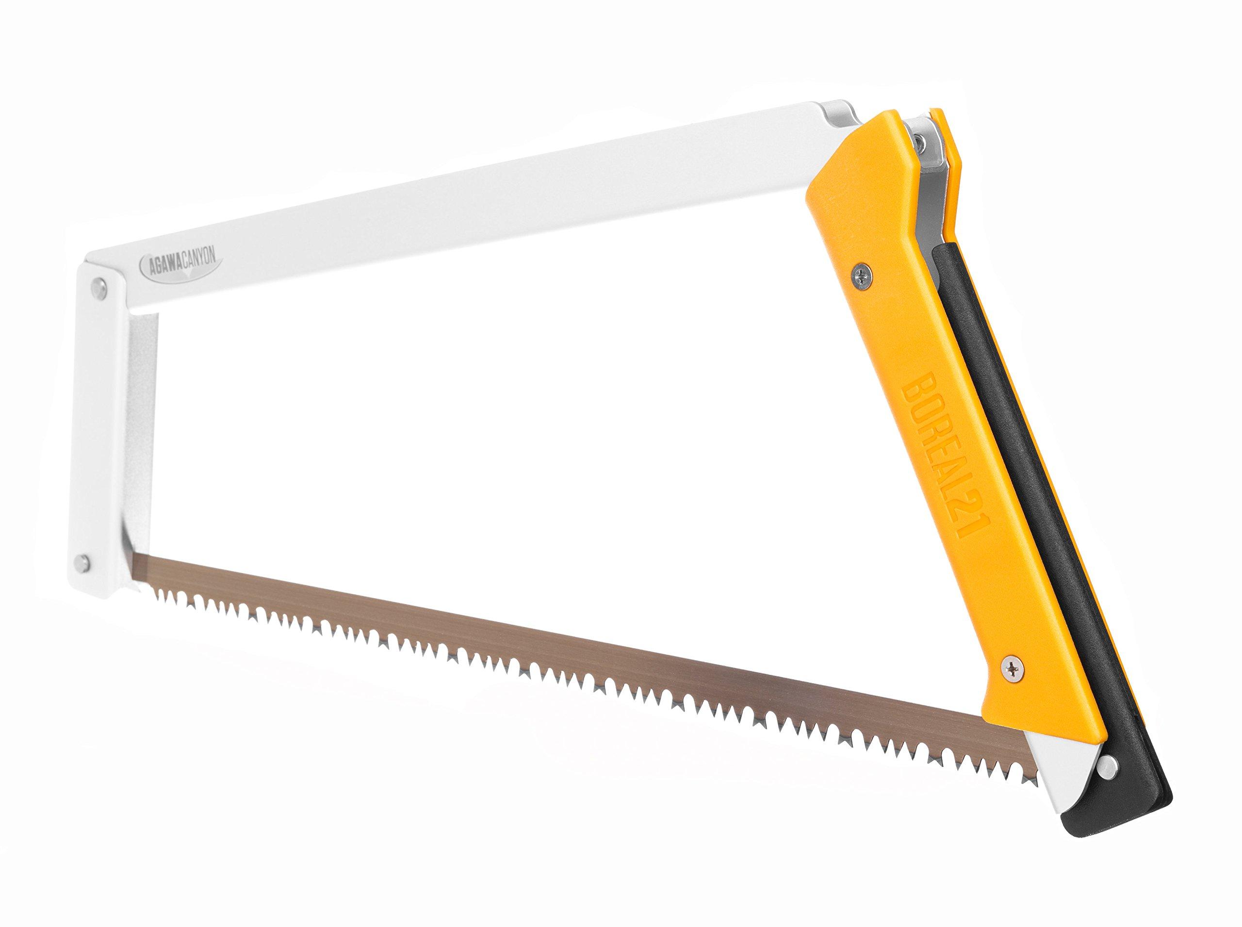 Agawa Canyon - BOREAL21 Folding Bow Saw - Clear Frame, Yellow Handle, All-Purpose Blade