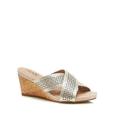 Gold diamante 'Glaze' high wedge heel wide fit sandals cheap original cheap sale eastbay SvCUuK9A1T