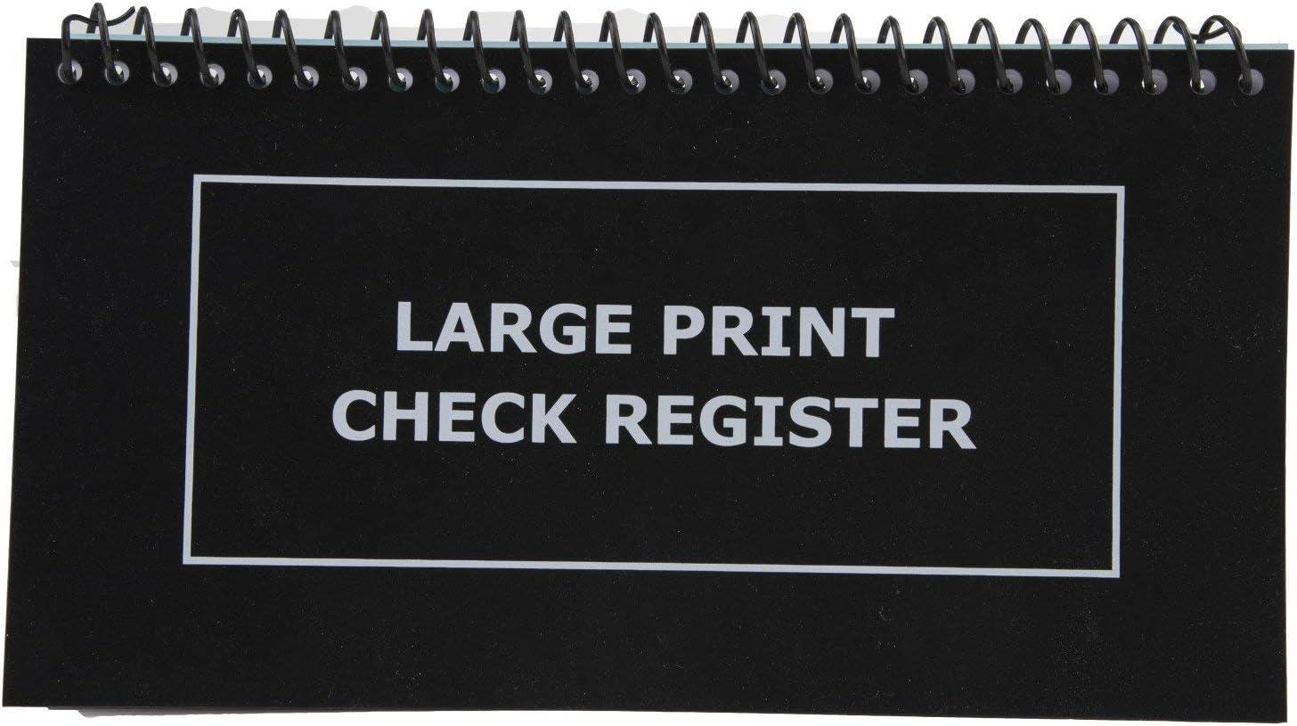 "Large Print Check Register - 10"" Long X 5.5"" High"