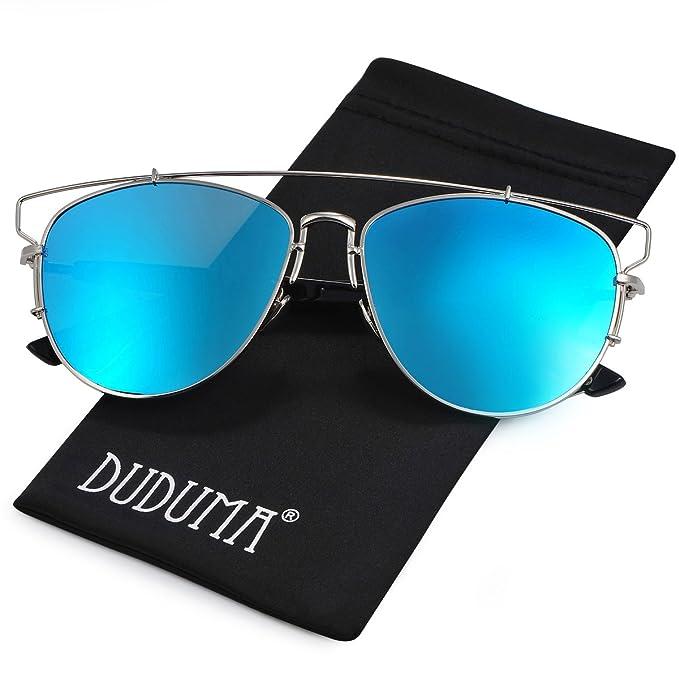 Duduma polarizadas Aviator Gafas de sol con marco metal travesaño completo de moda para mujeres y