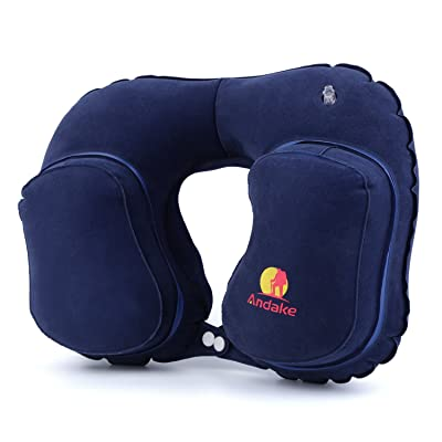 Andake Travel Pillow Neck Inflatable Pillow Best for Your Head and Neck Rest Pillow for Plane