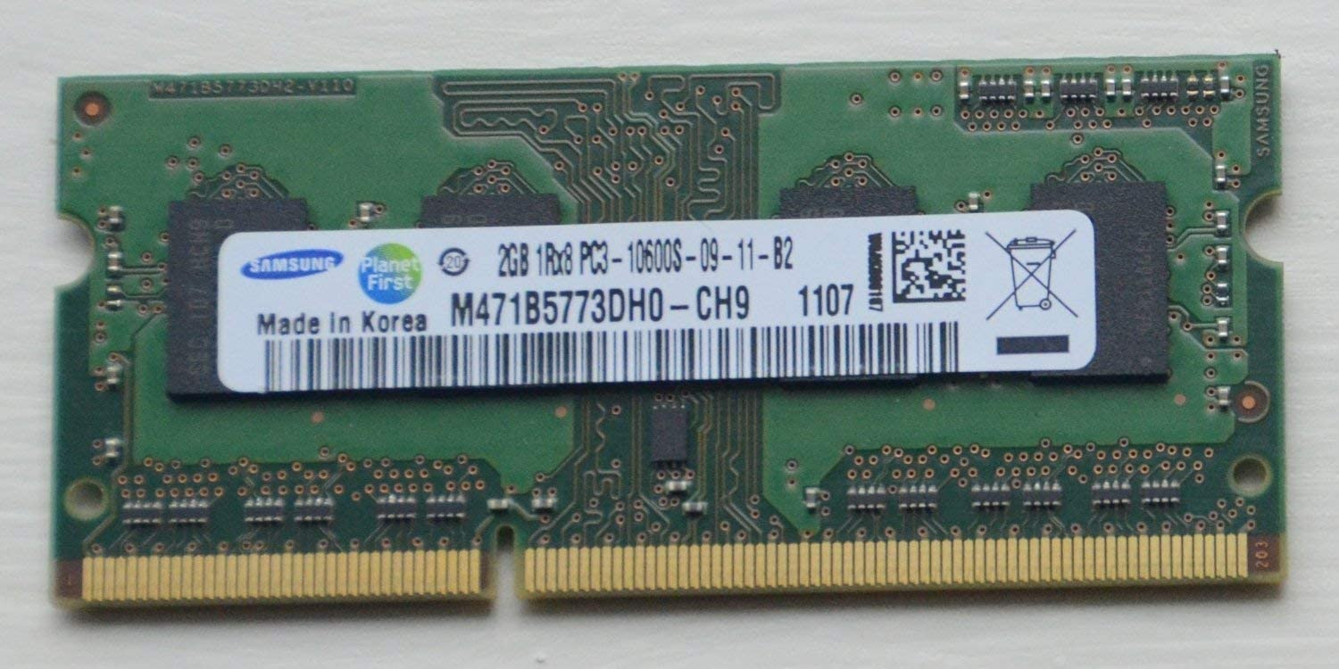 M471B5773DH0-CH9 SAMSUNG 2GB DDR3 1333MHZ PC3-10600 204-PIN CL9 Single Rank Non-ECC UNBUFFERED SODIMM Memory