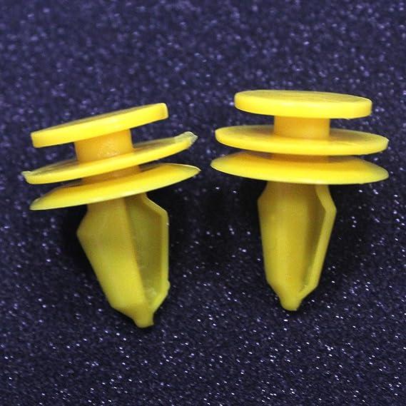 Muchkey Clips De Garniture Auto De Voiture Clip De Pare-chocs Garnitures De Fixation Rivets De Panneau Clips 50Pcs