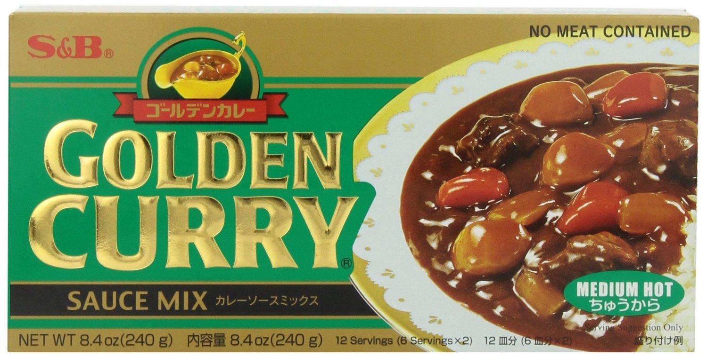 S&B Golden Curry Sauce Mix, Medium Hot, 8.4-Ounce (Pack of 5)