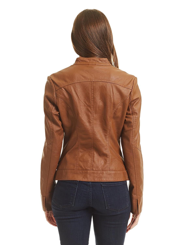 Come Together California CTC Womens Dressy Vegan Leather Biker Jacket