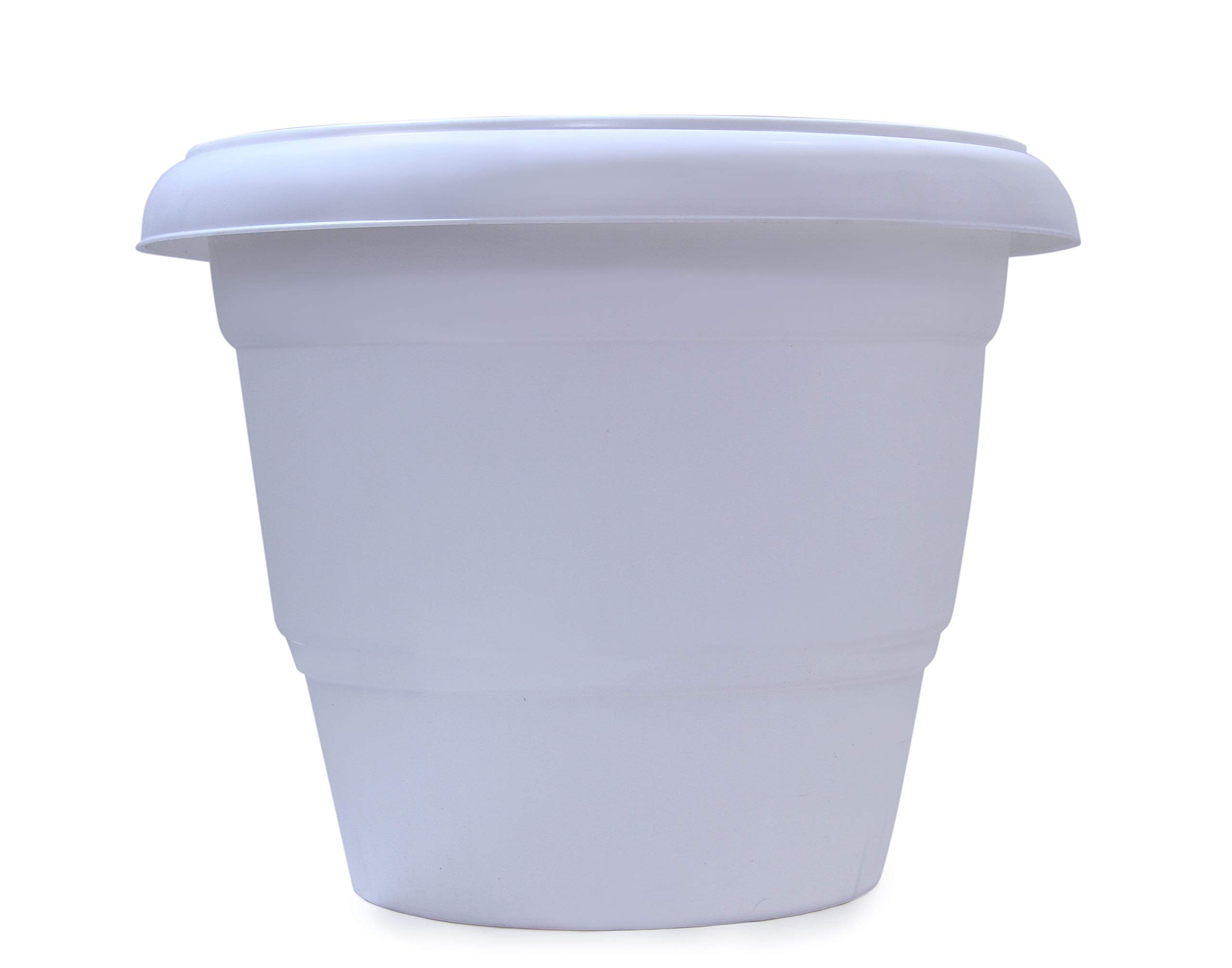 AUTO CAR WINNER High Density Unbreakable Flower Pot Garden Plastic Planters with Drain Hole 18