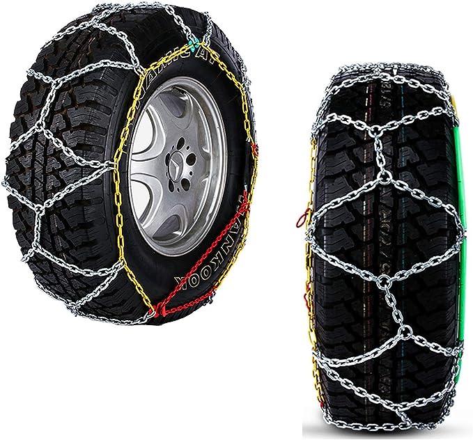 Ycx Car Snow Chains 700 15 Anti Rutsch Schneeketten 2 Stück Notfall Reifen Ketten Für Familie Auto Suv Mpv Etc 700 15 Küche Haushalt
