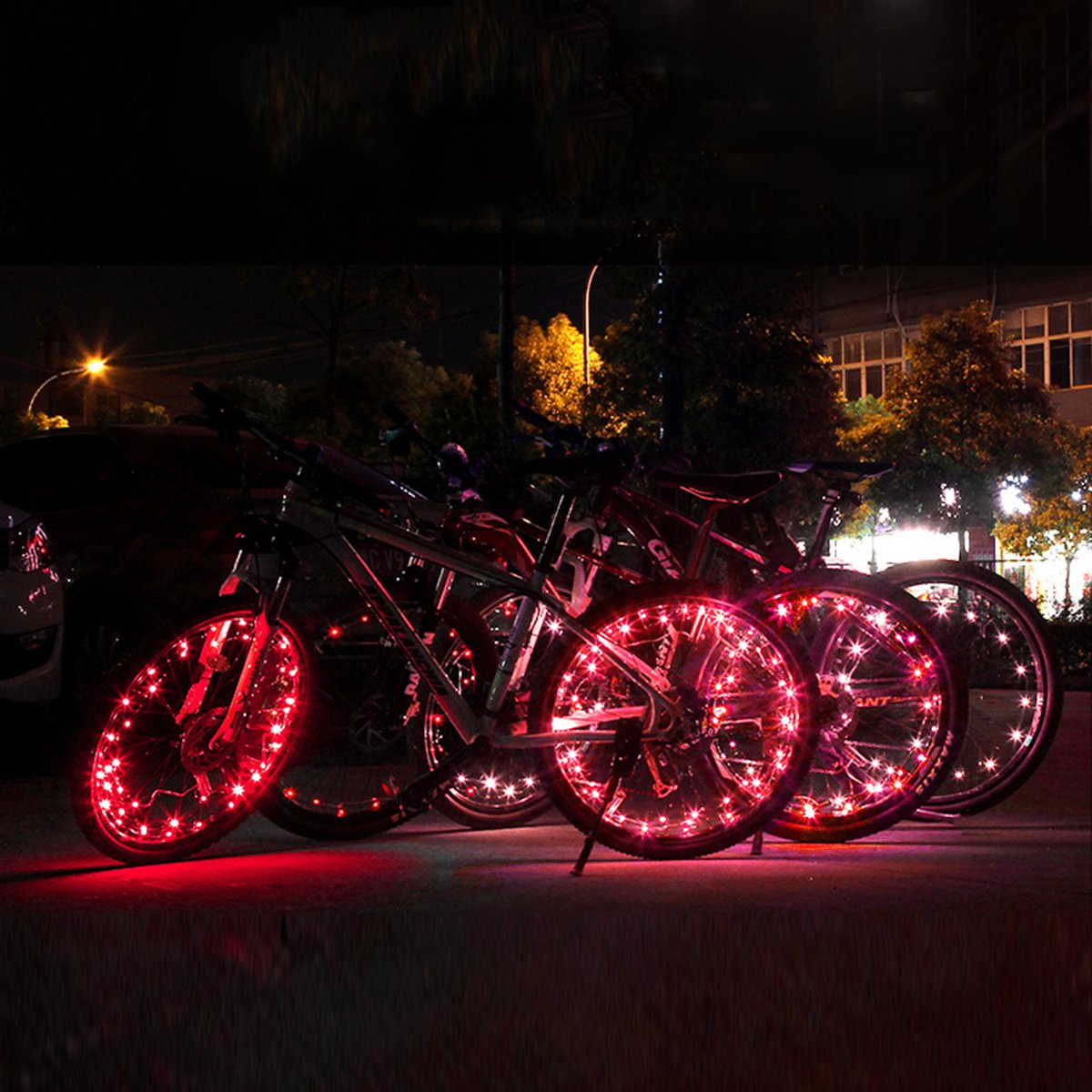 VORCOOL LED Bike Wheel Lights, Super Cool Lights Brilliant Bicycle Wheel Light String,USB Rechargeable Battery (1 Tire Pack) by VORCOOL (Image #2)