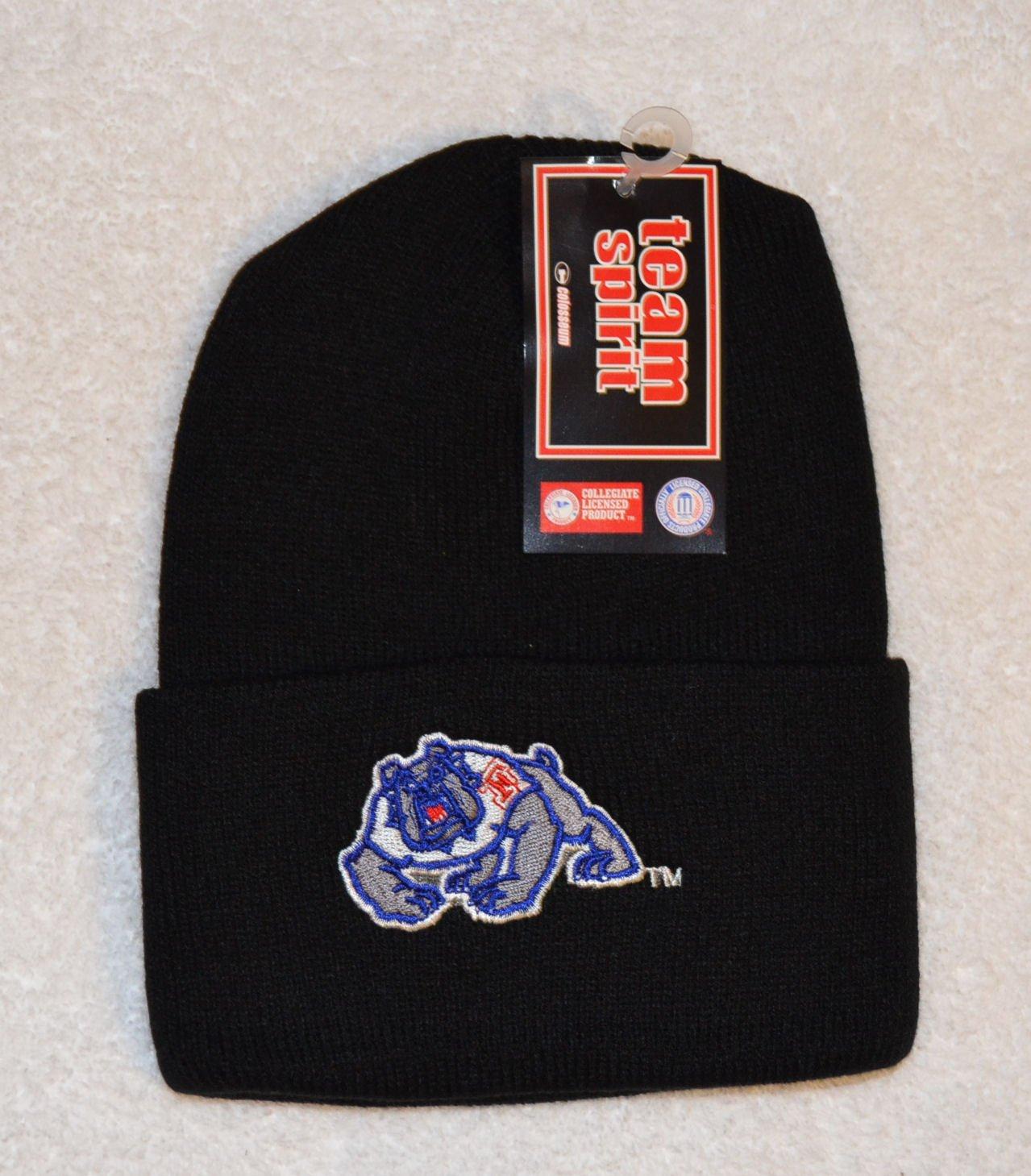 新しい。NCAAブラックFresno State Bulldogs刺繍ビーニースカルキャップwith Cuff   B00998OPS2