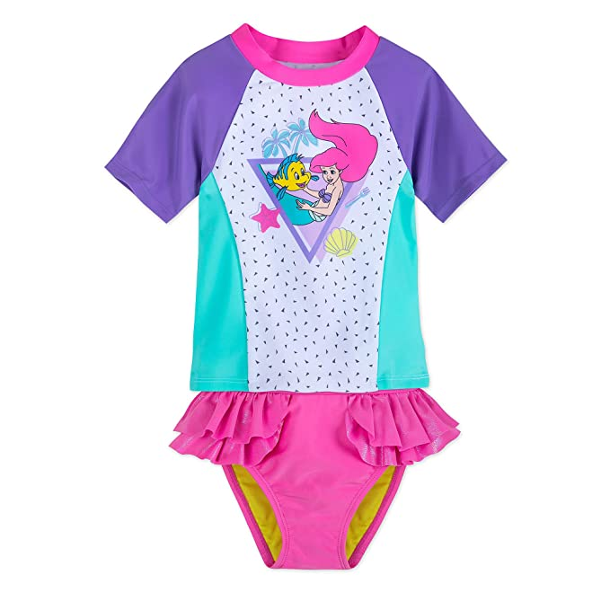 Amazon.com: Disney Ariel Rash Guard - Bañador para niños ...