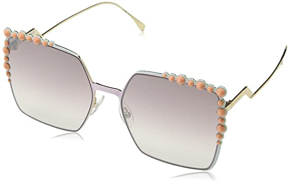 Mirror 035j Brown Lens 0259s Sunglasses With Gradient Fendi Pink Yb7gyf6