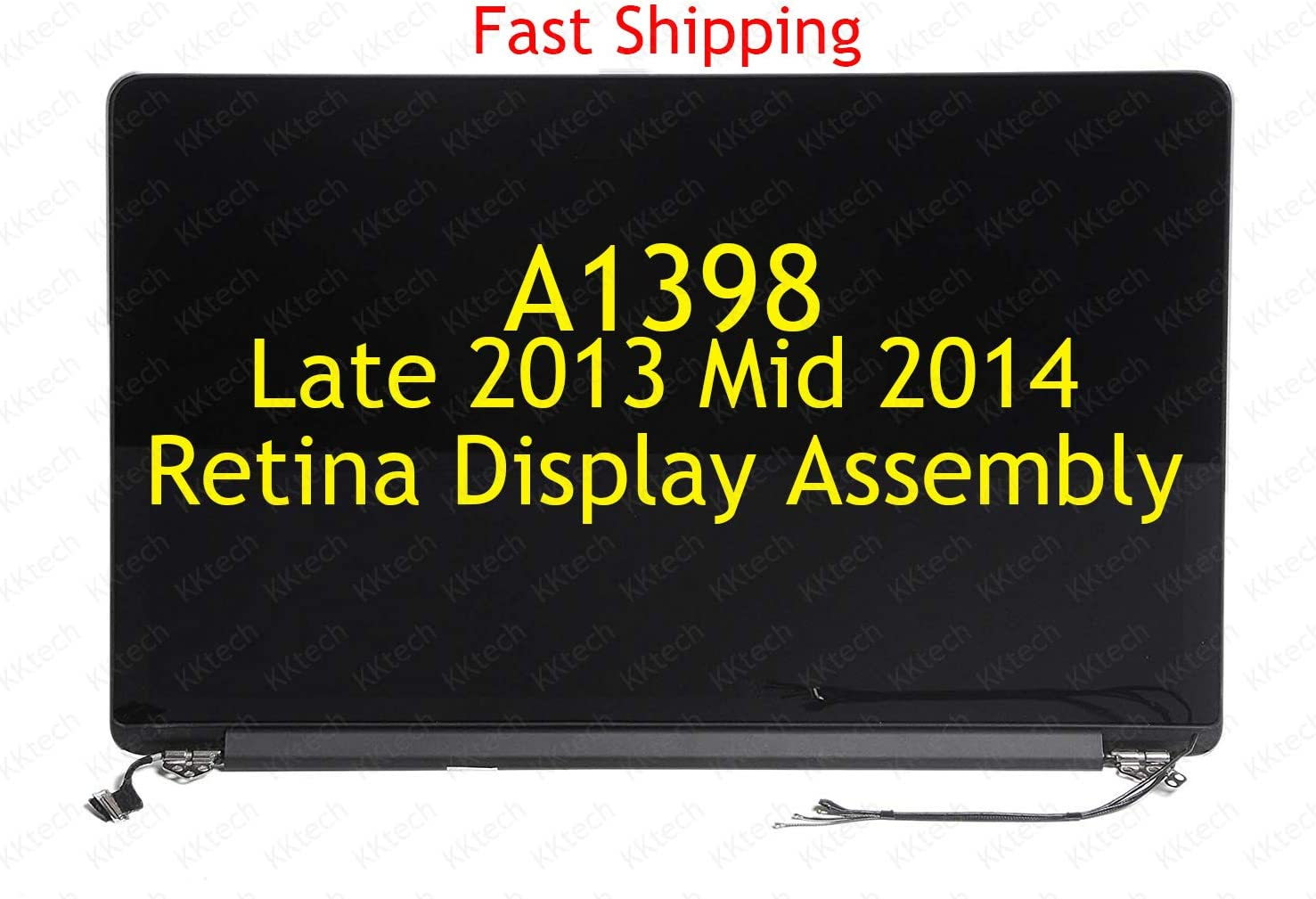 "KKtech New Screen Display Assembly Replacement Part for MacBook Pro 15"" A1398 Late 2013 / Mid 2014 Retina Full LCD LED Repair Part 661-8310"