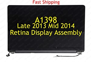 """KKtech New Screen Display Assembly Replacement Part for MacBook Pro 15"""" A1398 Late 2013 / Mid 2014 Retina Full LCD LED Repair Part 661-8310"""