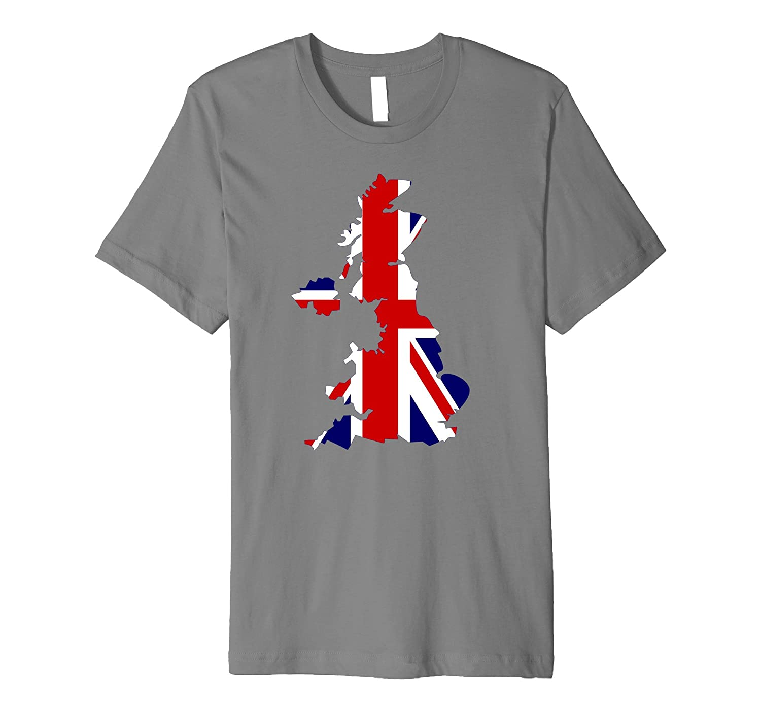 British flag Union Jack map Great Britain T-shirt-Art