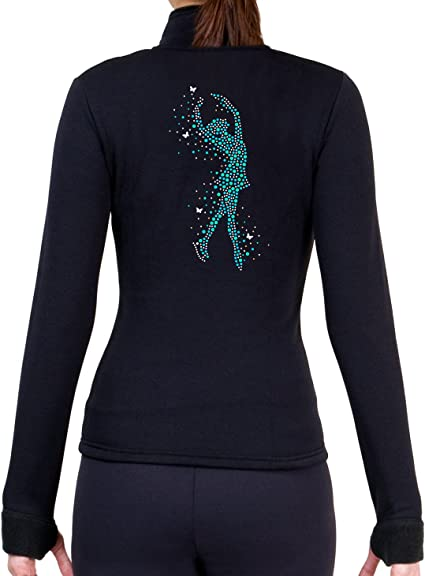 Aqua, Adult Small ny2 Sportswear Figure Skating Spiral Polartec Polar Fleece Pants