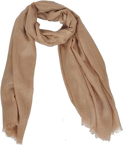 100/% Pure Cashmere Camel Colour Classic Plain Scarf Extra Wide