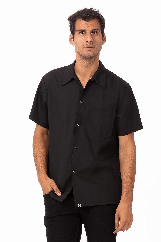 Chef Works Men's Uniforms Utility Cook Shirt, Black, Medium