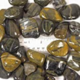 """Natural Polished Tiger Stripe Stones Large, total weight approximately 5 pounds, average size 0.75"""" - 1.5"""""""