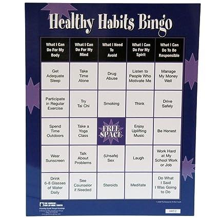 Amazon com: Healthy Habits Bingo Game: Toys & Games