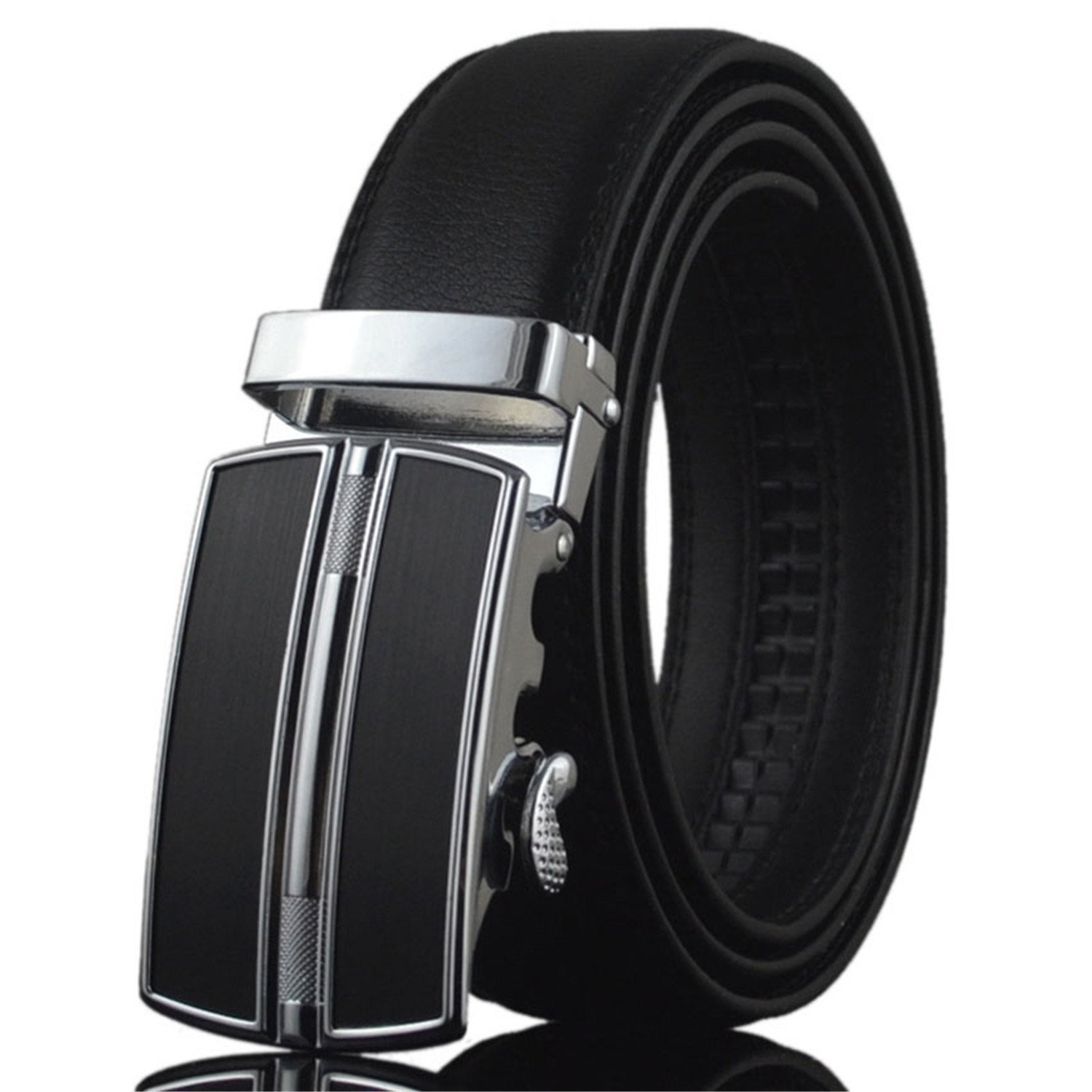 Sonder?Fashion?Belt Designer Belts Men Fashion Geometric Metal Automatic Buckle Genuine Leather Luxury Brand Belt White