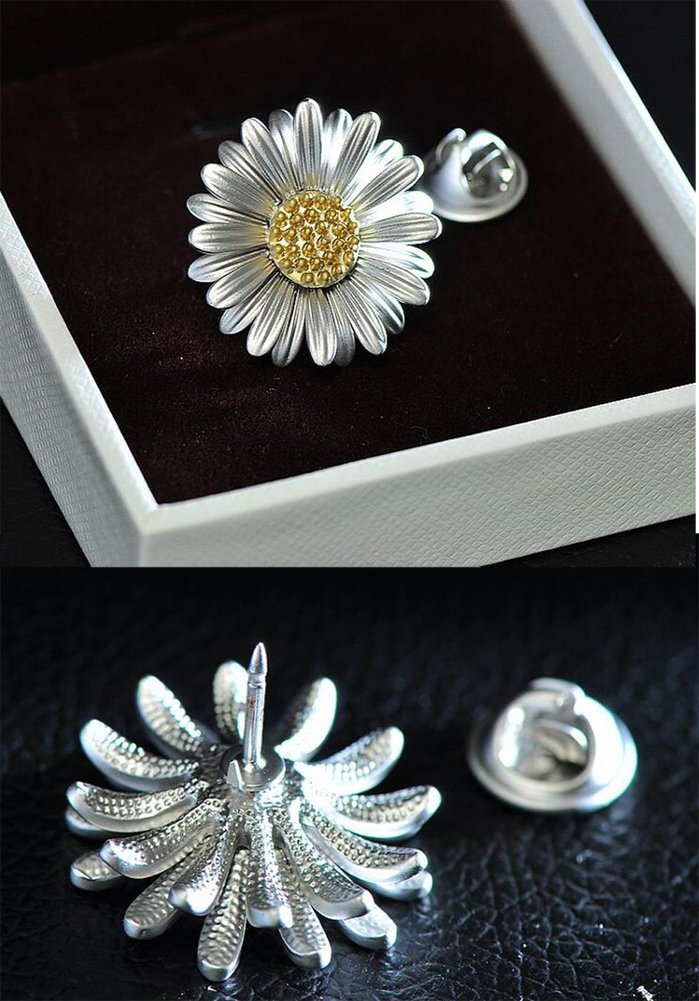 Special Daisy Shape Women Brooch New Design Clothing Accessories